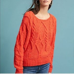 Cable knit sweater from anthropologie